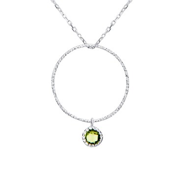 Argento August Birthstone Necklace  - Click to view larger image