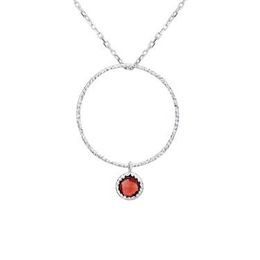 Argento January Birthstone Necklace - 40cm + 5cm