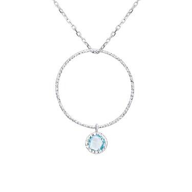6e2b7da6a54fb March Birthstone Necklace - 40cm + 5cm