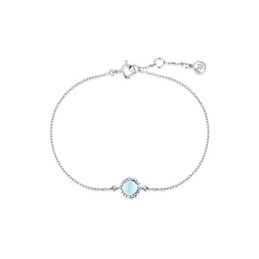 Argento March Birthstone Bracelet  - Click to view larger image