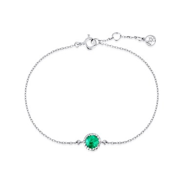 Argento May Birthstone Bracelet  - Click to view larger image