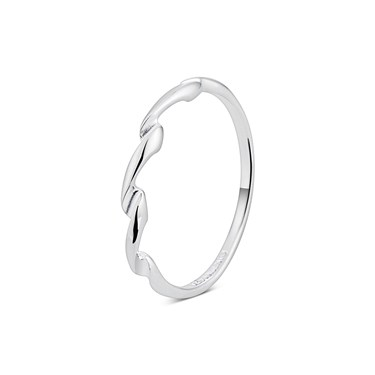 Argento Silver Twisted Stacking Ring  - Click to view larger image
