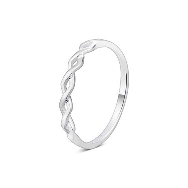 Argento Silver Twist Stacking Ring  - Click to view larger image