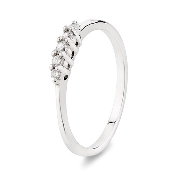 Argento Silver Encrusted Stacking Ring  - Click to view larger image