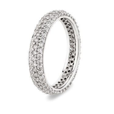 Argento Silver Pave Band Stacking Ring  - Click to view larger image