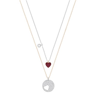Swarovski Crystal Wishes Heart Necklace  - Click to view larger image