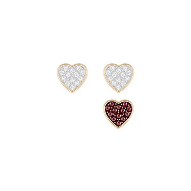 Swarovski Crystal Wishes Heart Earrings  - Click to view larger image