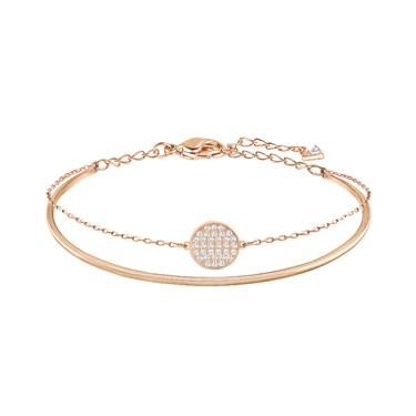Swarovski Rose Gold Double Bangle  - Click to view larger image