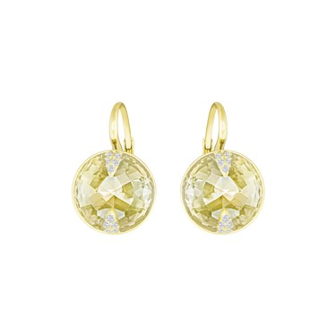 Swarovski Gold Globe Earrings   - Click to view larger image
