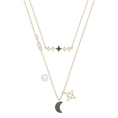 Swarovski Glowing Moon Layered Necklace  - Click to view larger image