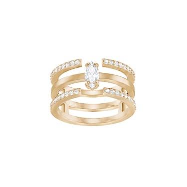 Swarovski Gray Rose Gold Ring  - Click to view larger image