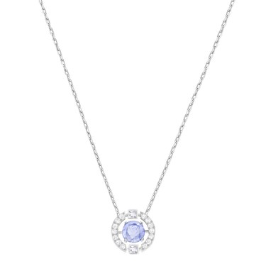 Swarovski Dancing Crystal Blue Necklace  - Click to view larger image