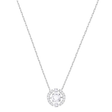 Swarovski Dancing Crystal Silver Necklace  - Click to view larger image