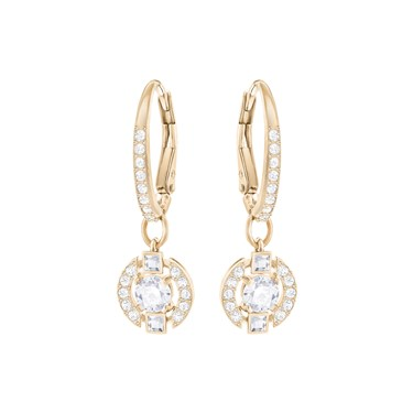Swarovski Sparkling Dance Rose Crystal Earrings  - Click to view larger image