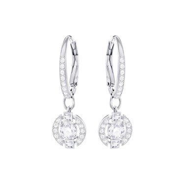 Swarovski Sparkling Dance Crystal Round Earrings  - Click to view larger image