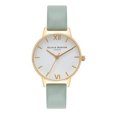 Olivia Burton Midi Dial Mint & Gold Watch  - Click to view larger image