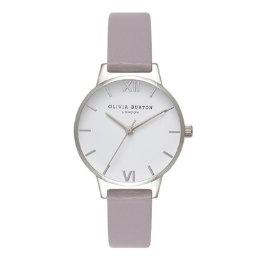 Olivia Burton Grey Lilac & Silver Midi Watch  - Click to view larger image