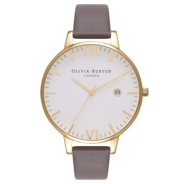 Olivia Burton Timeless Grey & Gold Watch  - Click to view larger image