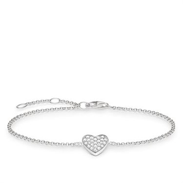 Thomas Sabo Crystal Heart Bracelet  - Click to view larger image