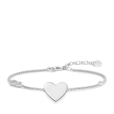 Thomas Sabo Silver Infinity Heart Bracelet  - Click to view larger image