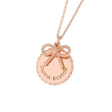Olivia Burton Rose Gold Bow Necklace  - Click to view larger image