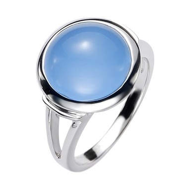 Argento Blue Glass Bead Ring