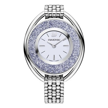 Swarovski Crystalline Oval Midnight Blue Watch  - Click to view larger image