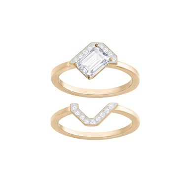 Swarovski Gallery Rose Gold Ring Set Size 50