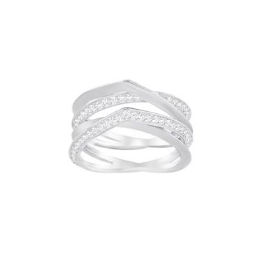 Swarovski Silver Genius Ring Size 55