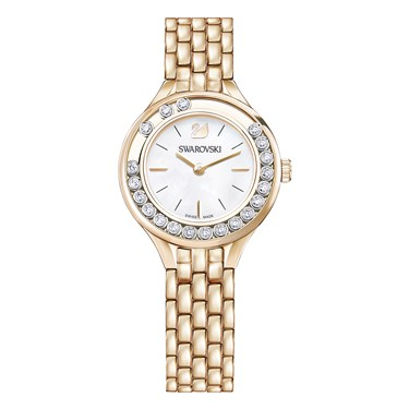 Swarovski Lovely Crystals Rose Gold Bracelet Watch  - Click to view larger image