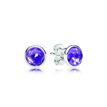 Pandora February Droplets Earrings  - Click to view larger image