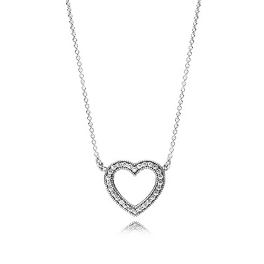 Pandora Loving Hearts of PANDORA Necklace  - Click to view larger image