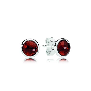 Pandora January Droplets Earrings  - Click to view larger image