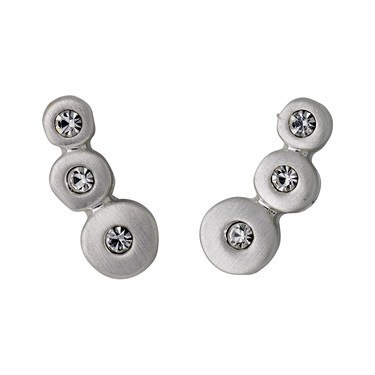 Pilgrim Silver Dot Earrings  - Click to view larger image