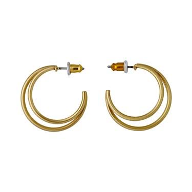 Pilgrim Gold Havana Hoop Earrings  - Click to view larger image