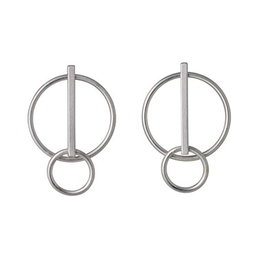 Pilgrim Silver Havana Circle Earrings  - Click to view larger image