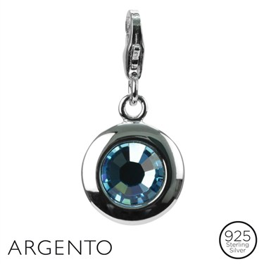 Argento March Birthstone Charm  - Click to view larger image