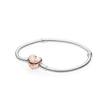 Pandora Rose Heart Clasp Bracelet Argento Com
