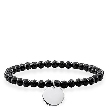 Thomas Sabo Black Obsidian Love Bridge Bracelet  - Click to view larger image
