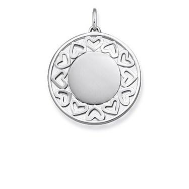 Thomas Sabo Silver Filigree Hearts Pendant  - Click to view larger image