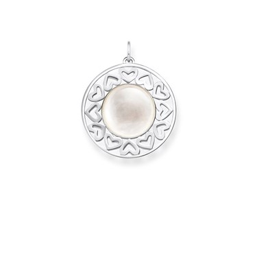 Thomas Sabo Mother of Pearl Hearts Pendant  - Click to view larger image