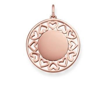 Thomas Sabo Rose Gold Filigree Hearts Pendant  - Click to view larger image