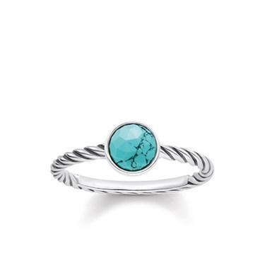 Thomas Sabo Turquoise Ocean Spirit Ring  - Click to view larger image
