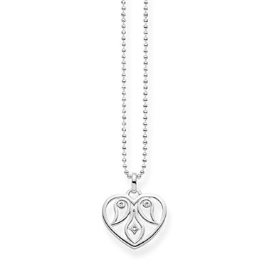 Thomas Sabo Heart Ornamentation Necklace  - Click to view larger image