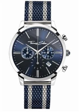 Thomas Sabo Rebel Spirit Blue & Silver Mens Watch  - Click to view larger image