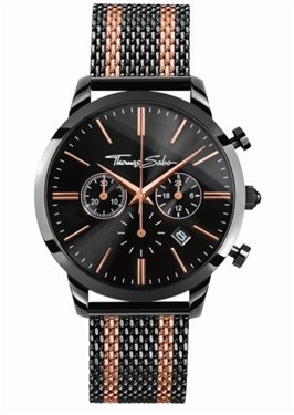 Thomas Sabo Rebel Spirit Black & Rose Gold Mens Watch