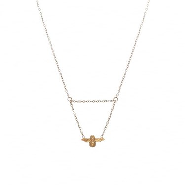 Olivia Burton Gold Bee Necklace  - Click to view larger image