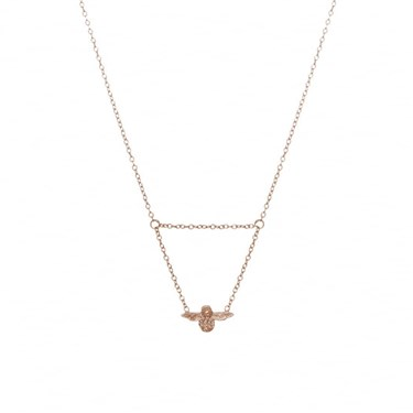 Olivia Burton Rose Gold Bee Necklace  - Click to view larger image