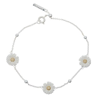 Olivia Burton Silver & Gold Daisy Chain Bracelet   - Click to view larger image