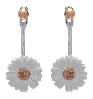 Olivia Burton Rose Gold Daisy Ear Jackets 1